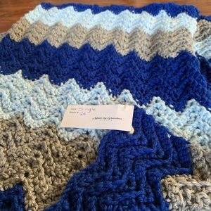 Made by Grandma - Hand Crocheted Couch Throw